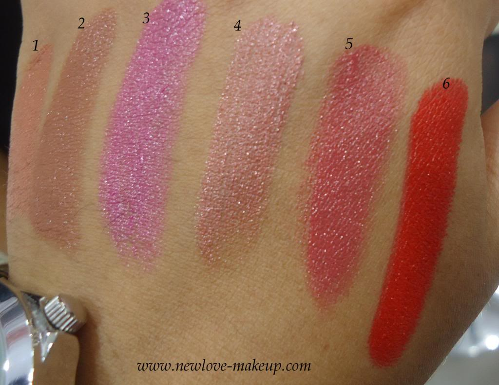 Colorbar Take Me As I Am Lip Color Swatches
