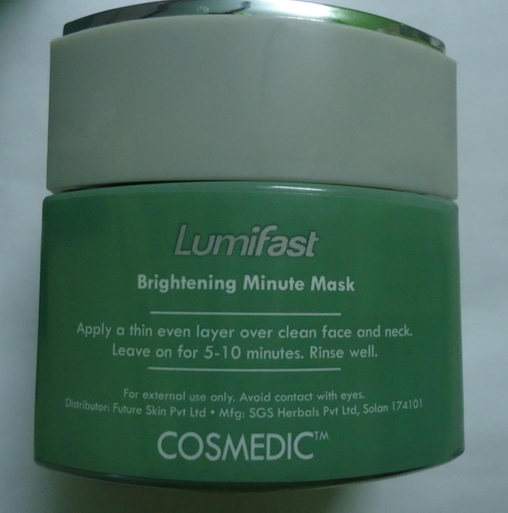 DSC02835 zps95074dee Cosmedic Lumifast Brightening Minute Mask Review