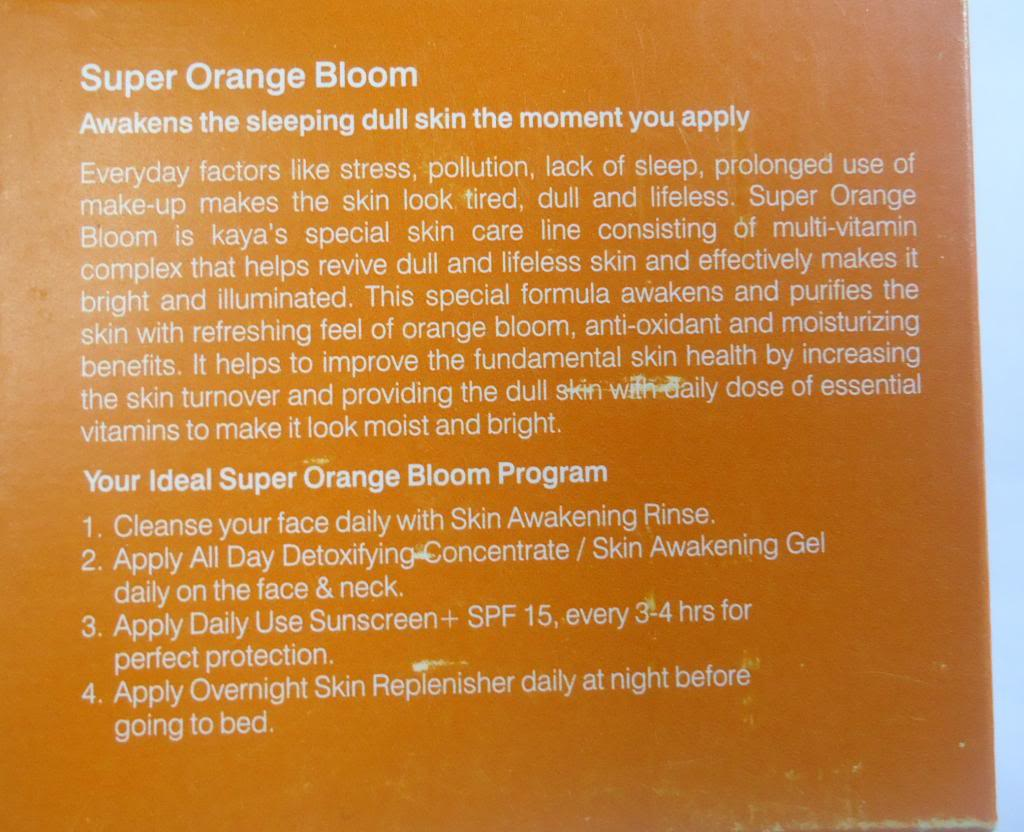 Kaya Super Orange Bloom Overnight Skin Replenisher Review