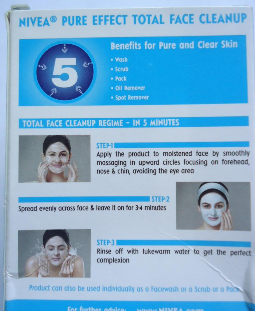 Nivea Pure Effect Total Face Cleanup Review