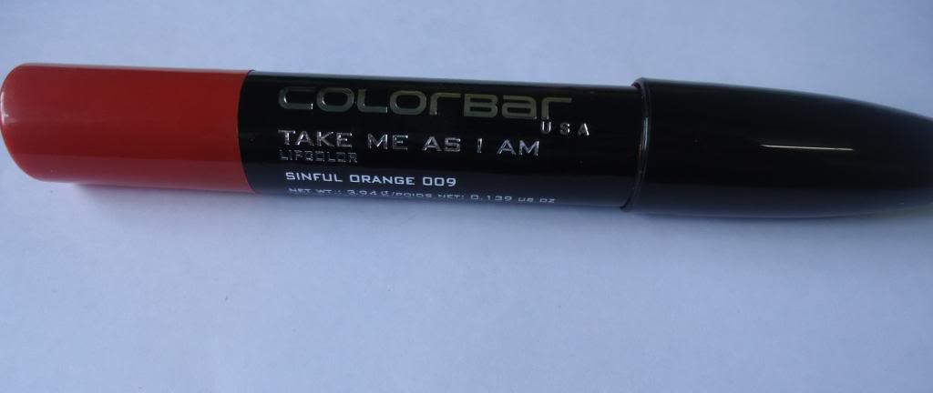 DSC05145 zps994bffaa Colorbar Take Me As I Am Lip Color Sinful Orange Review, Swatches