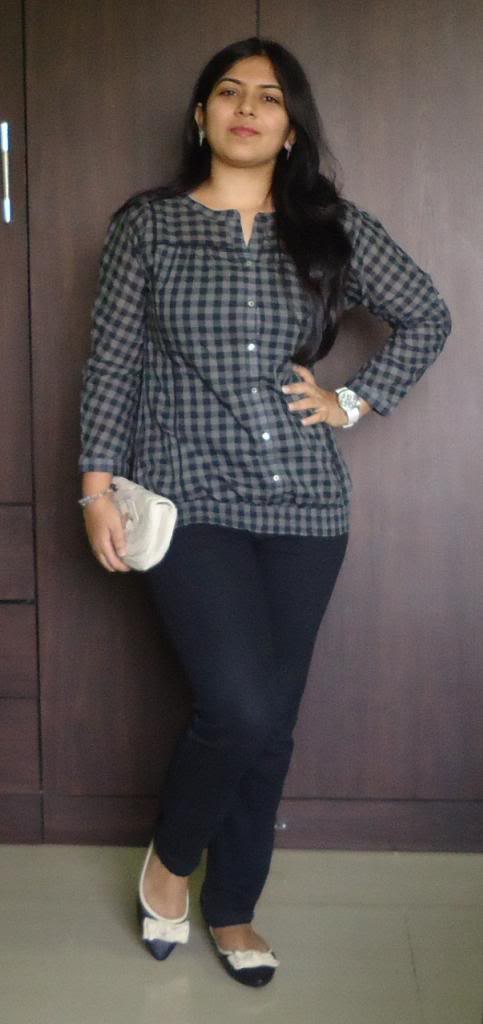 OOTD: Black Checkered Tunic- 2 ways
