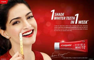 Sonam Kapoor Colgate Ad Photos Sonam Kapoor Colgate Photos Sonam kapoor Colgate Visible White Photos Sonam kapoor Visible White teeth Colgate Ad Photos 1  300x193 Colgate Visible White Contest  4 winners