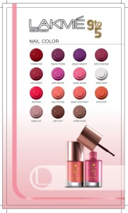 lakme Nail Color 9 to 5 Shade card 181x300 Lakmé 9 to 5: The Office Stylist Range