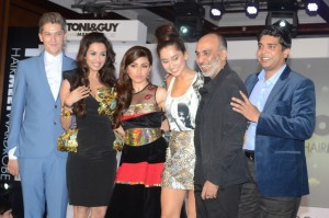 At the launch of TONI amp GUY Hair Meet Wardrobe Mark Hampton Malaika Arora... 300x199 Toni & Guy HairMeetWardrobe India Launch