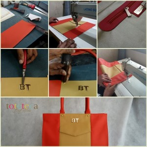 Toteteca bag, Personalized bag with Initials