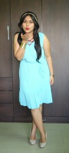 DSC088771 136x300 OOTD: Mint Pleated Dress, Denim Jacket