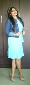 DSC088801 105x300 OOTD: Mint Pleated Dress, Denim Jacket